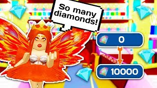 HOW TO GET LOTS OF DIAMONDS SUPER FAST 💎 👑 // Roblox Royale High School