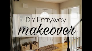 Diy Small Entryway Makeover | Low Budget | Pinterest Inspired