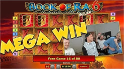 BIG WIN!!! Book of ra 6 - Huge Win - Casino Games - free spins (Online Casino)