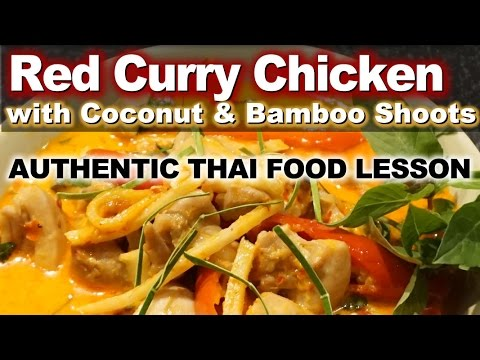 thai chicken curry with bamboo shoots recipe