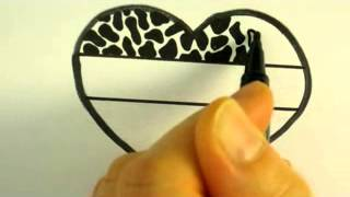 How To Draw Animal Pattern and Swirl Pattern In A Heart