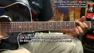 How To Play WEREWOLVES Of LONDON For DUMMIES Warren Zevon Guitar Play Along Cover EricBlackmonGuitar Resimi