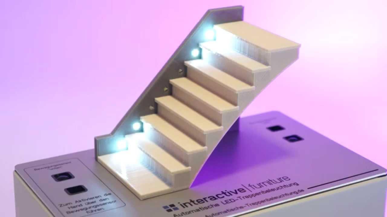 automatische sensorgesteuerte led treppenbeleuchtung von. Black Bedroom Furniture Sets. Home Design Ideas
