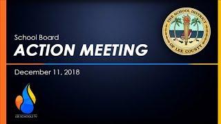 School Board Action Meeting: December 11, 2018