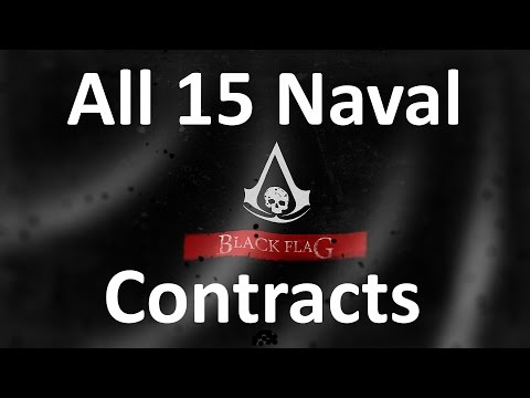 """Assassin's Creed 4: Black Flag"" walkthrough (100% synchronization), All 15 Naval Contracts [60FPS]"