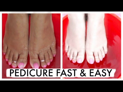 How To Pedicure At Home Fast & Easy