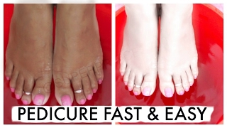 How To Pedicure At Home Fast & Easy   SuperPrincessjo