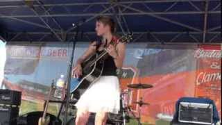 Tory Tompkins performs White Liar by Miranda Lambert at Houston Dynamo soccer game 8-3-12