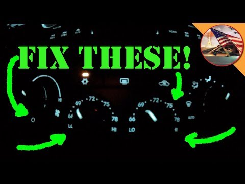 '05 Chrysler 300: Fix Backlights For The Temperature Controls!