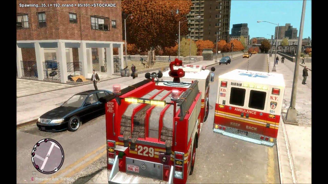 GTA 4:EFLC - FDNY responding to a EMS assistance