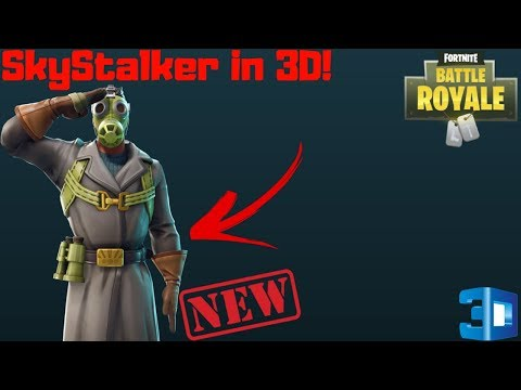 Fortnite Battle Royale | SkyStalker Leaked Skin With 3D Preview | BackBling And Axe!!