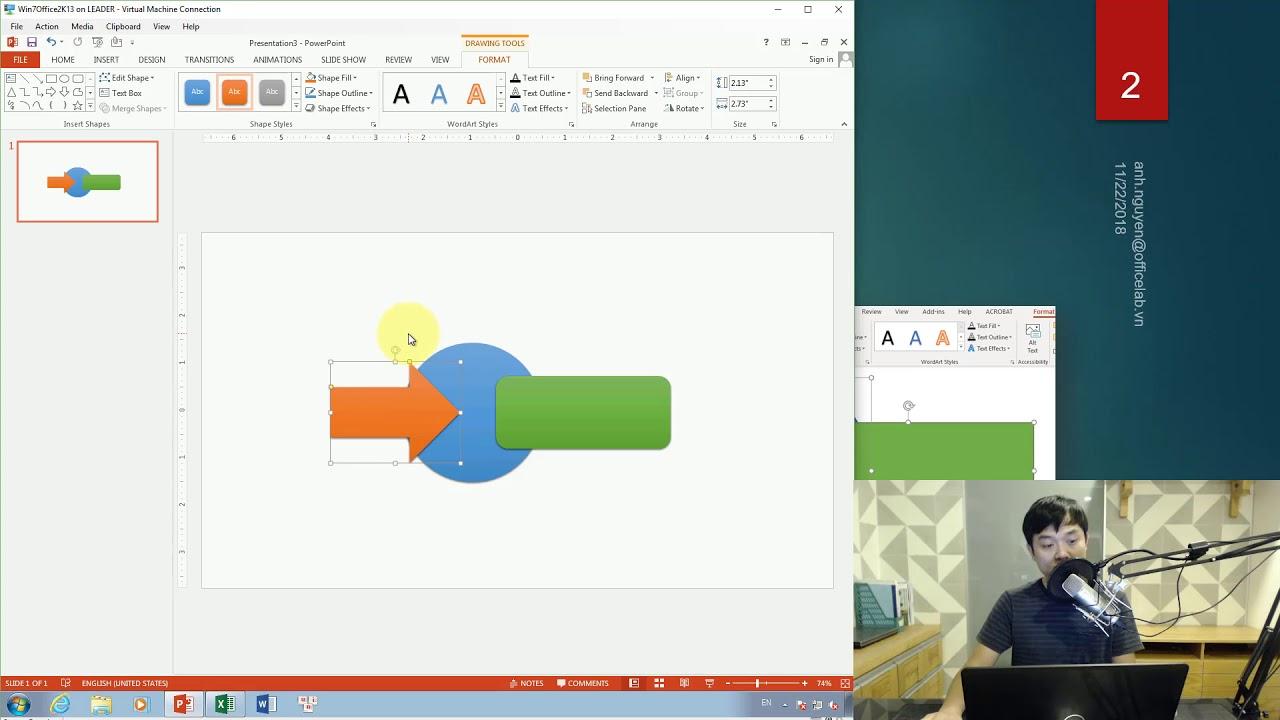 Vẽ hình trong PowerPoint với công cụ Merge Shapes