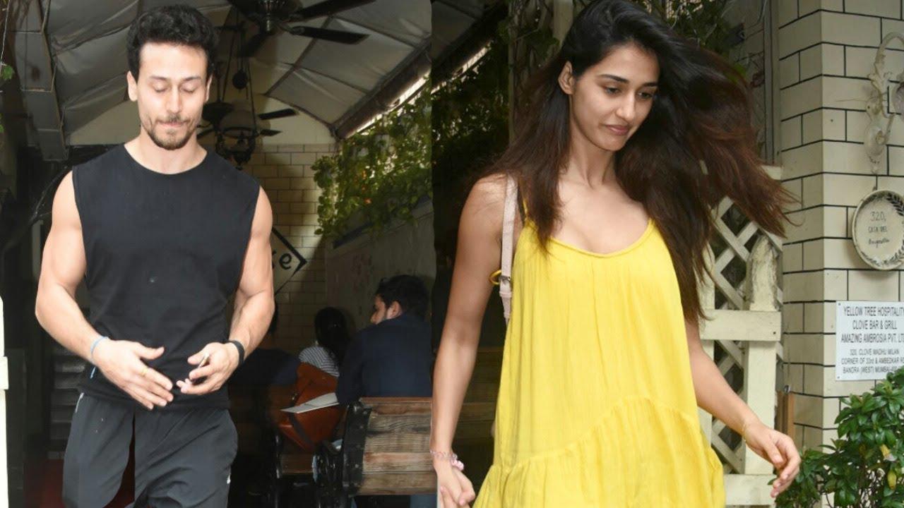 SPOTTED: Tiger Shroff and Disha Patani Post Lunch at Bandra | SpotboyE