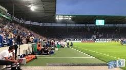 Einlauf Mannschaften Rückrundenauftakt 1. FC Magdeburg 2. Bundesliga 2019