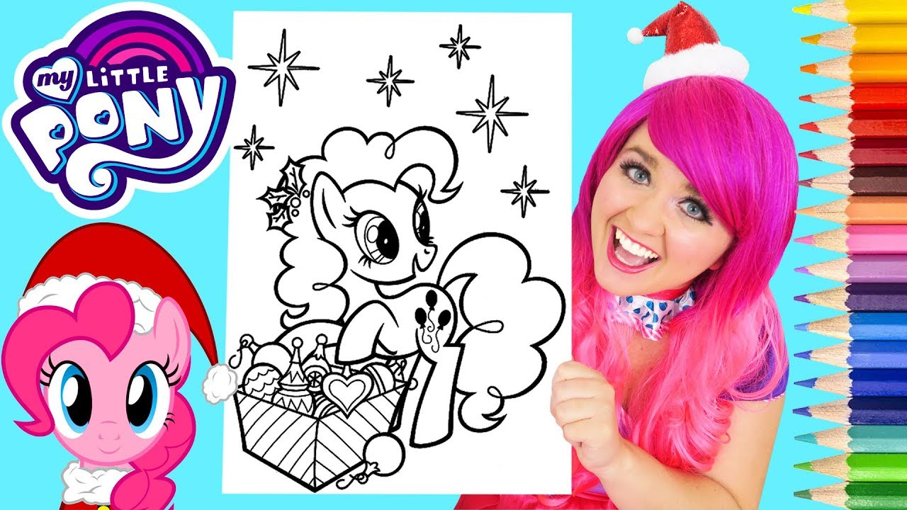 coloring my little pony christmas pinkie pie coloring page