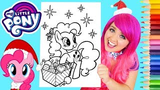 Coloring My Little Pony Christmas Pinkie Pie Coloring Page Prismacolor Pencils | KiMMi THE CLOWN