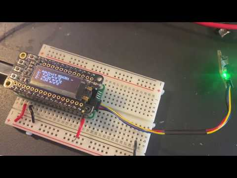 Arduino code running on our STM32405 Feather