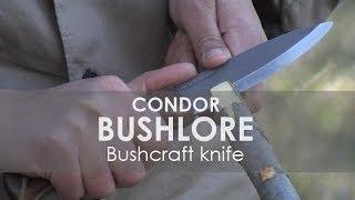 Cuchillos de supervivencia montaña o bushcraft Pruebas de monte Condor Bushlore Knife Test  & review