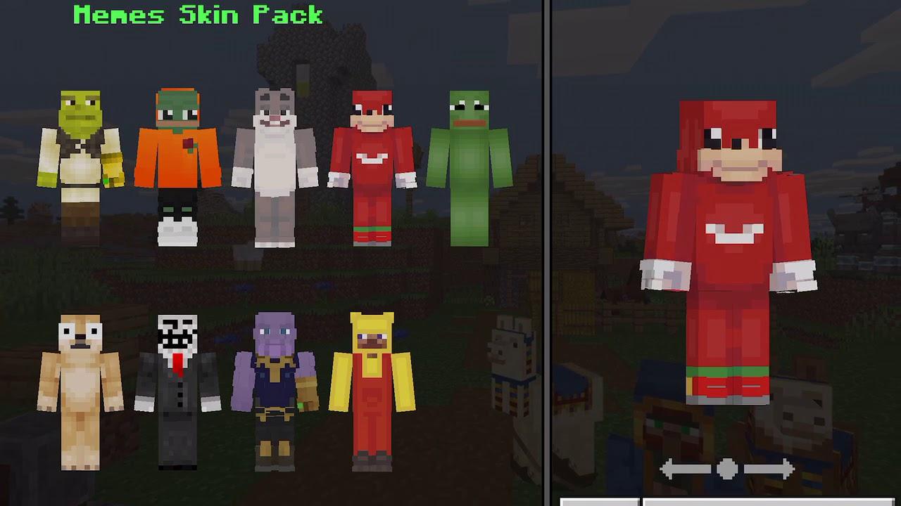 Minecraft Meme Skin Pack - YouTube