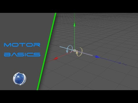 How to use Cinema 4D Motor   Rotating objects  Tutorial