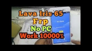 Lava iris 65 google account unlock