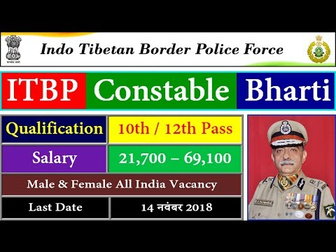 ITBP Group C Recruitment 2018 - ITBP Sports Quota Recruitmen