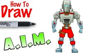 How to Draw A.I.M. | Fortnite
