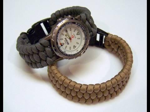Woven paracord bracelet/watchband video slideshow