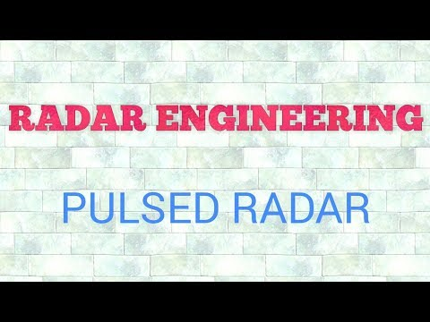 PULSED DOPPLER RADAR || RADAR ENGINEERING