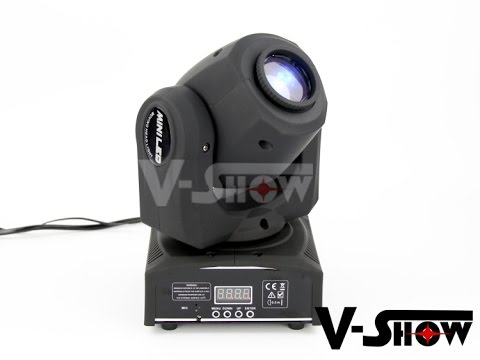 mini moving head spot led 10w youtube. Black Bedroom Furniture Sets. Home Design Ideas