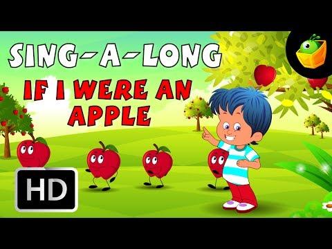Karaoke: If I Were An Apple - Songs With Lyrics - Cartoon/Animated Rhymes For Kids