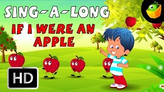 Karaoke: If I Were An Apple - Songs With Lyrics - Cartoon/Animated Rhymes For Kids