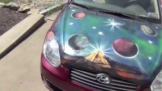 spray paint art - car hood painting by Carmen P. Monroe