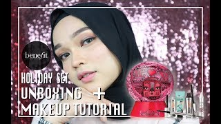 Video BENEFIT COSMETICS 2017 HOLIDAY SET | UNBOXING + MAKEUP TUTORIAL download MP3, 3GP, MP4, WEBM, AVI, FLV Desember 2017