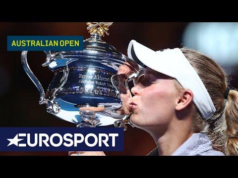 Caroline Wozniacki v Simona Halep Highlights | Australian Open 2018 Final | Eurosport