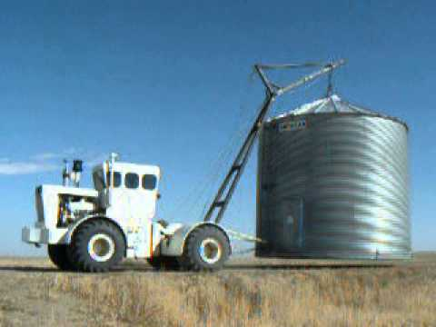 Moving a Used Grain Bin - a Day in the Life of a Rural