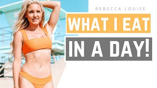 What I EAT in a DAY! How I got these RESULTS!  Rebecca Louise