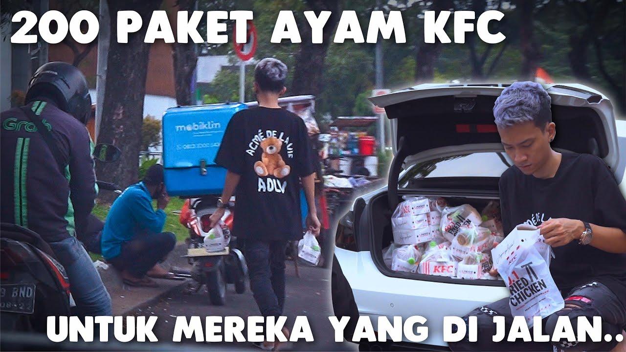 BAGIIN 200 KFC DI JALAN BUAT ORANG BERBUKA PUASA