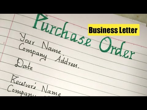 Business Letter-Letter To Purchase Product/Purchase Order/Letter Writing/Handwriting