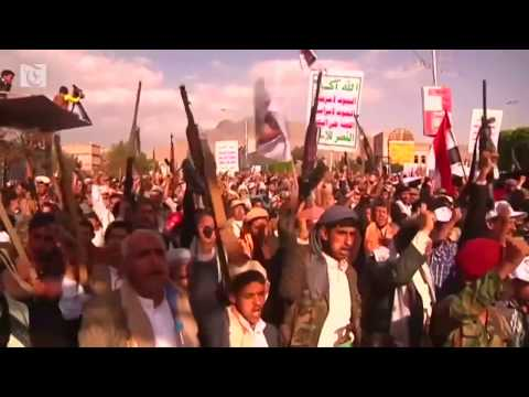 Thousands protest in Sanaa against Saudi-led bombardment