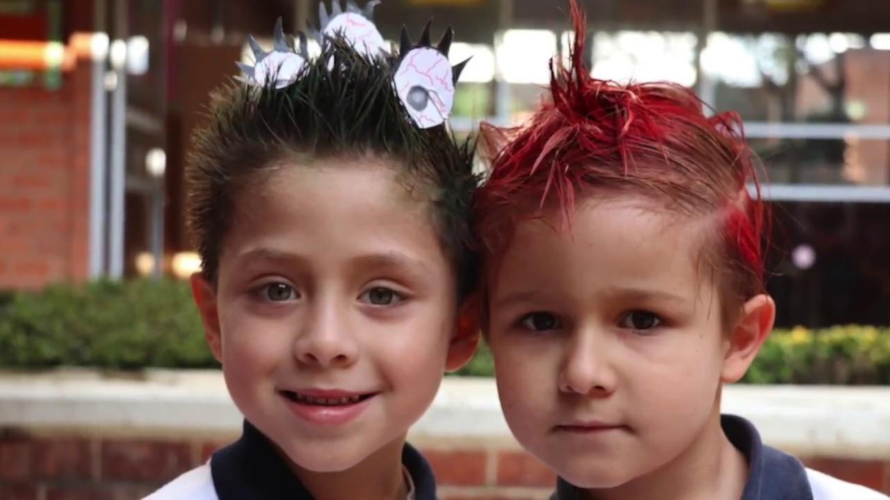 Rápido y fácil peinados divertidos para niña carnaval Fotos de consejos de color de pelo - Día de Peinados Locos en Kinder Yaocalli - YouTube