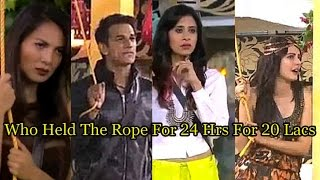 Exclusive Bigg Boss 9: Guess Who Kept Holding The Rope For 24 Hours For Rs 20 Lakh!
