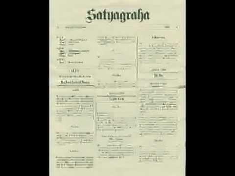 Philip Glass -- Satyagraha -- Act 1 - Tolstoy (Rotterdam 1980)