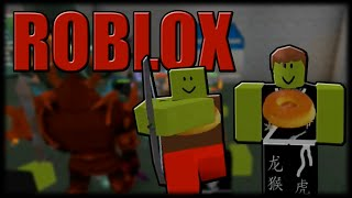 Playing Roblox-Battle of Shreks