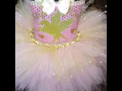 Pink and gold customised 1st birthday tutu dress