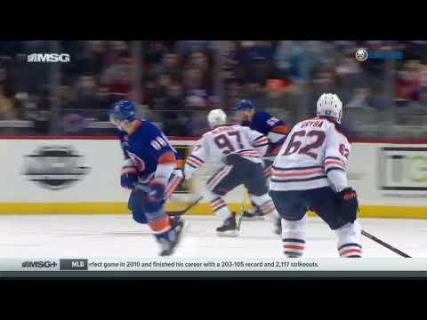 Eric Gryba Hit on Nikolay Kulemin - New York Islanders vs. Edmonton Oilers (11/7/2017)