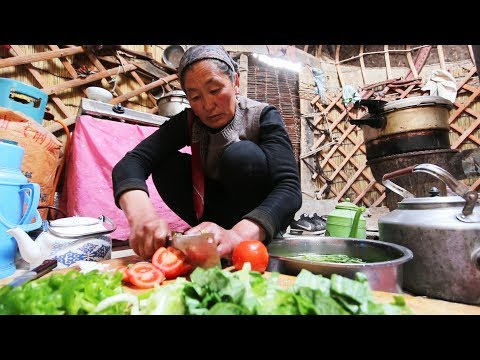 Thumbnail: CHINESE YURT CAMPING - INCREDIBLE Tiny House Yurt FOOD in NEVER-SEEN China! SILK ROAD Street Food!