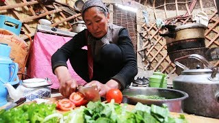 CHINESE YURT CAMPING - INCREDIBLE Tiny House Yurt FOOD in NEVER-SEEN China! SILK ROAD Street Food!