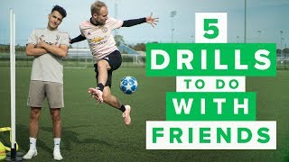 5 DRILLS TO DO WITH FRIENDS | Awesome football training