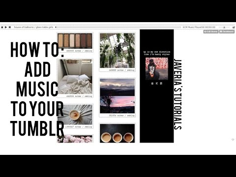 how to add a music playlist to your tumblr // javeria's tutorials